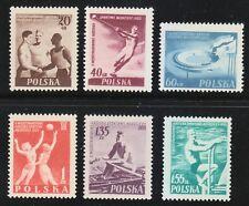 Poland 1955 MNH Mi 934-939 Sc 699-704 2nd International Youth Games