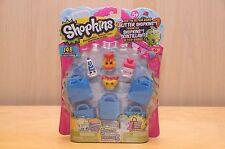 SHOPKINS Season 1 One 5 PACK - Blue Bags Bread Head Alpha Soup Millie Shake
