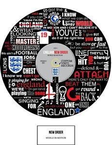 WORLD CUP - ENGLAND - WORLD IN MOTION - MEMORABILIA - ART POSTER PRINT - Ltd Ed.