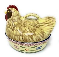Temp-tations Chicken Two Piece Presentable Ovenware 1.5 Qt. Oven Safe