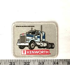 New ListingKenworth Trucks Gray And Blue Edge Embroidered Iron-On Patch-Nice!