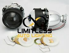 """2x 2.5"""" Super Mini H1 HID Bi-Xenon Projector Lens Bulb HI/LO Beam Light Lamp"""