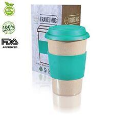 Travel Mug & Lid Reusable To Go GREEN 16oz Coffee Cup best Gift FDA BPA Free