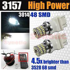 2x 3157 High Power 800LM 6000K White 3014 Daytime Running Lights DRL LED Bulbs