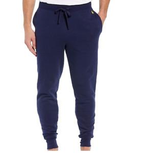 Polo Ralph Lauren Mens Navy Brushed Fleece Jogger Pajama Pants NEW