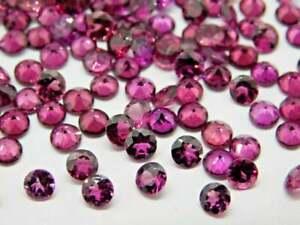 Natural Rhodolite Garnet 1.50 MM Round Diamond Cut AAA Quality Loose Gemstone