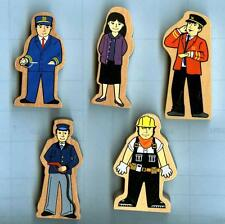 Wooden Train Accessories-5 Person Set~Thomas/Brio/Maxim Comp-Boys & Girls 3+