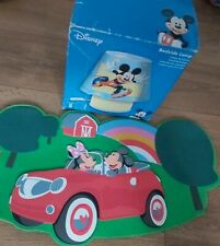 MICKEY MOUSE TABLE BEDSIDE LAMP KIDS ROOM And wall decoration set