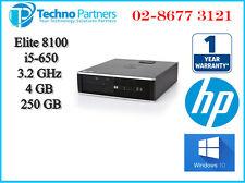 HP Compaq Elite 8100 SFF PC Desktop Intel i5-650 3.2G 4G 250G Win10 1Yr Warranty