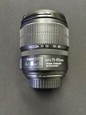 Canon EF-S 15-85mm f/3.5-5.6 IS USM Lens -Image Stabilizer ULTRASONIC Lens