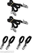 4x Correas Color Negro de Nylon para Calapie Calapies de Bicicleta Vintage 2909