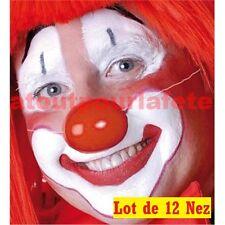 lot de 12 Nez Rouge Clown avec elastique Plastique Déguisement ENFANT ADULTE