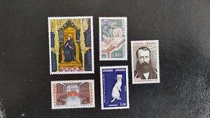 J-   5 sellos ANDORRA FRANCESA. año 1977. Yvert 260 y 263/266