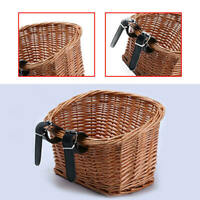 Bicycle Bike Front Basket Willow Wicker Woven Vintage Cycle Handlebar Storage
