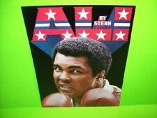 Stern MUHAMMAD ALI 1980 ORIGINAL Flipper Game Pinball Machine Sales Flyer Poster