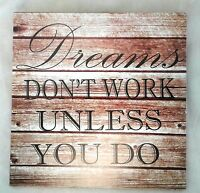 Inspirational Sign Plaque Wall Word Dreams Wisdom Plaque Home Decor Decoration