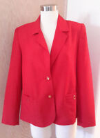 Alfred Dunner Women's Red Light Weight 2 Button Unlined Career Blazer Size 8