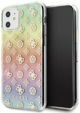 Genuine Guess 4G Silicone Poony Glitter Transparent Case for iPhone 11