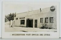 CA Whiskeytown RPPC Post Office & Store Gas Pump Pabst Coca Cola Postcard K4