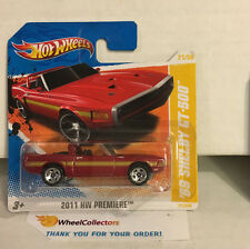 '69 Shelby GT-500 Red * VARIATION 5sp Rims * SHORT CARD 2011 Hot Wheels * D25