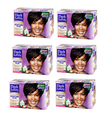 Dark and Lovely sin lejía Hair Relaxer Kit Super Fuerza Fortalecedor Paquete de 6