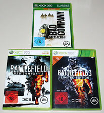 3 360 Xbox juegos bundle-Battlefield Bad Company 1 & 2 & Bf 3 Limited Edition