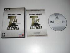 Seconda GUERRA MONDIALE BATTAGLIA CARRI ARMATI T-34 VS tigre serbatoio PC DVD Rom Simulatore di battaglia SIM Post veloce