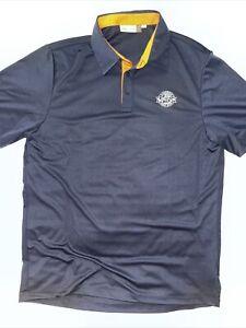 KJUS XL 54 NAVY BLUE Silas Polo Shirt UPF 50+ LAHINCH GOLF CLUB Short Sleeve