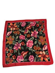 Adrienne Vittiadini 100% Silk Floral Scarf