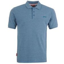 Mens Branded Slazenger Basic Style Plain Short Sleeves Polo Shirt Top