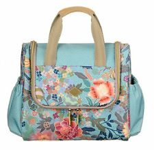 Oilily Ajisai Blossom travel kit with Hook cosméticos bolso bolso piscina Blue