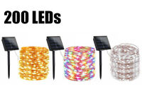 200 LED 72′ Solar Fairy String Light Copper Wire Outdoor Waterproof Garden Decor