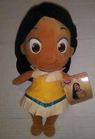 "Disney Store *TODDLER POCAHONTAS PRINCESS 12"" PLUSH DOLL~BRAND NEW W/ TAG! CUTE!"