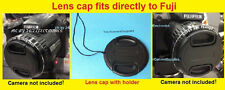 SNAP ON LENS CAP DIRECTLY to CAMERA FUJI S8300 FINEPIX + HOLDER