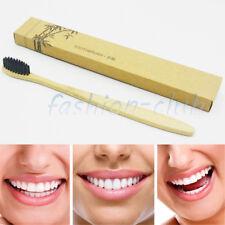 1x Eco Vegan Bamboo Toothbrush Antimicrobic Medium Soft Gentle Family Oral Brush