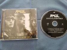 RAGE SECRETS IN A WEIRD WORLD CD 2002 SANCTUARY RUSSIAN EDITION + 5 BONUS TRACKS