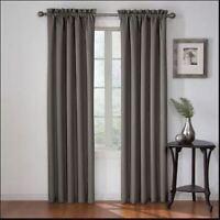 "Eclipse Corinne Blackout (1) Curtain Panel Gray 42 X 63"""