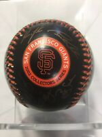 2002 San Francisco Giants Stamp Signed Team Ball