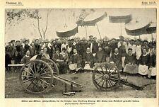 Aus China Feldgesütze Geschenk aus Belgien für den Vizekönig Chang-Chi-Tang 1899