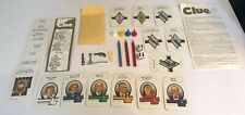 Vintage 1986 Clue Replacement Game Pieces By Parker Brothers Score Pad, Cards ++