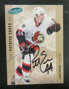 2005-06 Parkhurst, Ottawa Senators - PATRICK EAVES - autographed (RC)