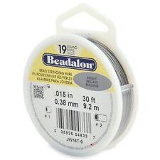 "Beadalon Bright .015"" Bead Stringing Wire 19 Strand Flex Wire - 30ft"