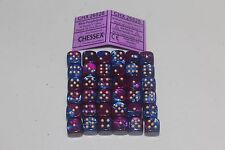 Chessex Blue Blood with Gold 36 Scarab 12mm Pipped Dice CHX 27819