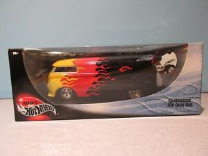 NEW Collectible 1:18 Scale YELLOW AND RED CUSTOMIZED VW DRAG BUS By HOT WHEELS