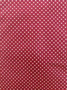 BANANA REPUBLIC RED SILVER DARK BROWN TINY DOTS SILK NECKTIE TIE MAU2220C #Y27