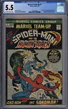 Marvel Team-Up #1 CGC 5.5 FN- OwWp 1st Misty Knight 1972 Spider-Man Human Torch