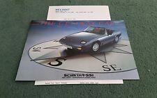1985 1986 Reliant Scimitar ss1 1300 1600 UK brochure + March 1985 Letter