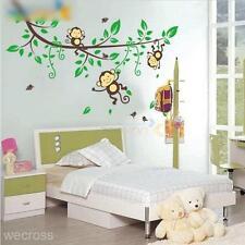 Cartoon Jungle Monkey Style Wall Sticker Decal Baby Kids Bedroom Decor Vinyl Art