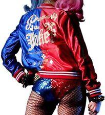 Women's Comic Harley Quinn Costume Suicide Squad Property of Joker Women Jacket