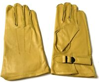 WWII US AIRBORNE PARATROOPER DDAY LEATHER JUMP GLOVES-SIZE MEDIUM